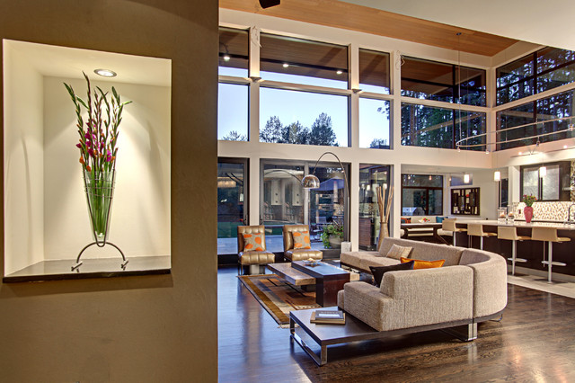 Forest House - Living Area contemporary-living-room