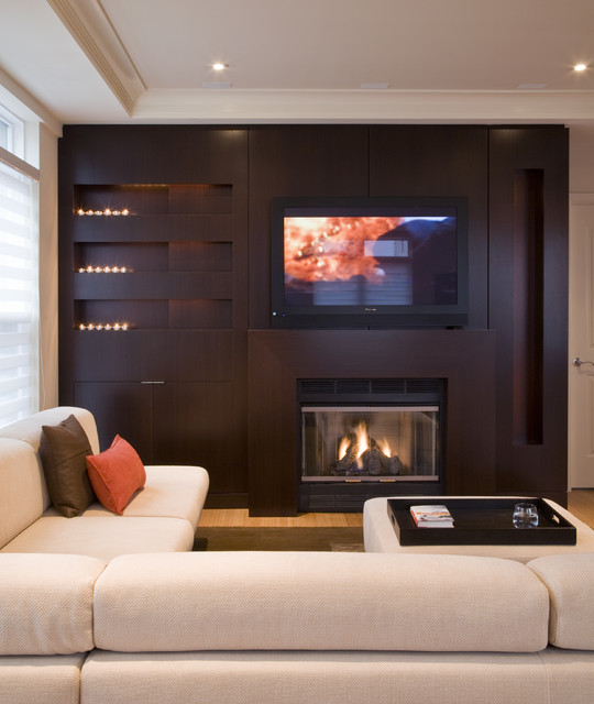 Family Room Design With Tv: Transitional