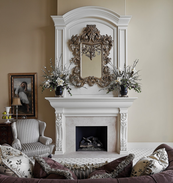 Houzz Living Room Fireplace: Formal Fireplace