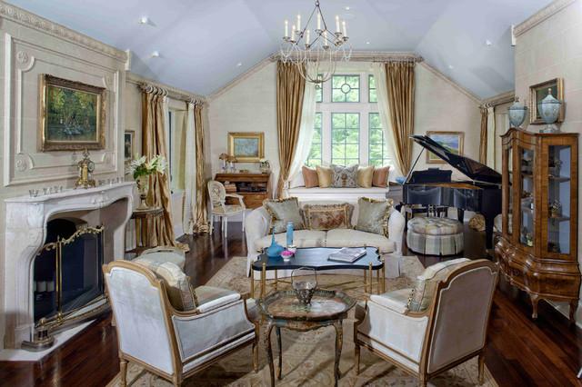 Formal French Living Room On Philadelphia S Main Line American Traditional