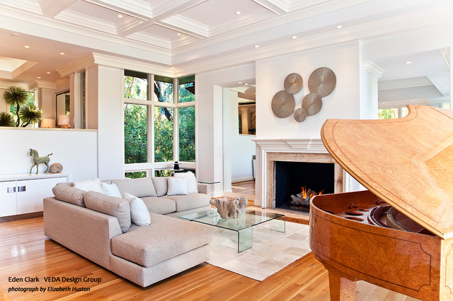 Formal Living Room And Piano Room Modern Living Room