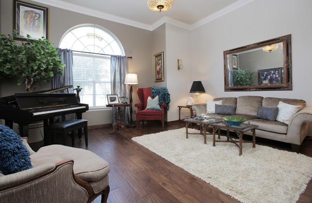 Formal Living Room Transitional Dallas