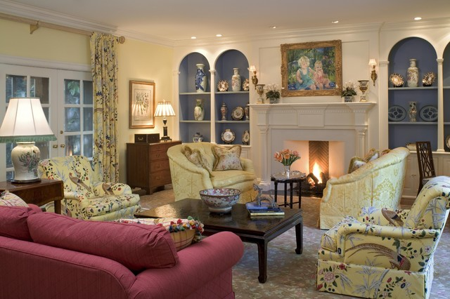 Formal Living Room with Fireplace - Traditional - Living ...