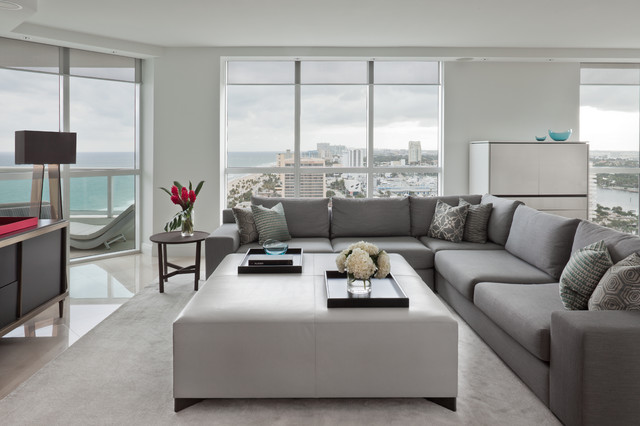 Fort Lauderdale FL Contemporary Living Room Other Metro By Benjamin