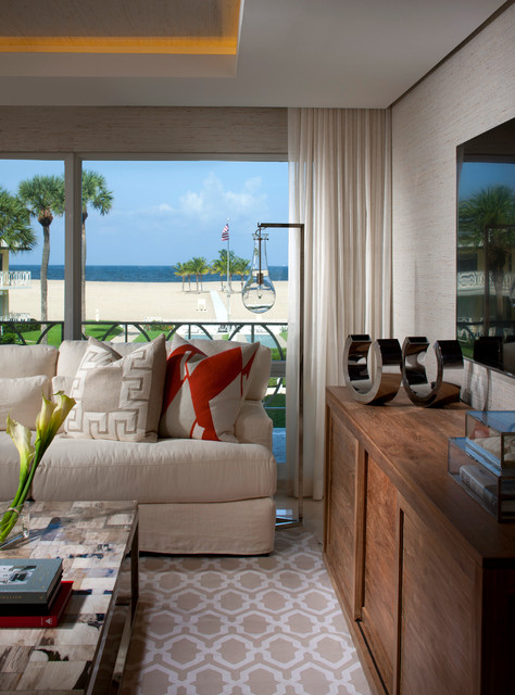 Florida Living Room Design Ideas: Fort Lauderdale Florida Interior Design Harbor Beach