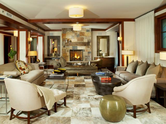 Four Seasons Living Room contemporary-living-room