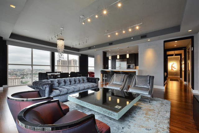 Four Seasons Residence contemporary-living-room