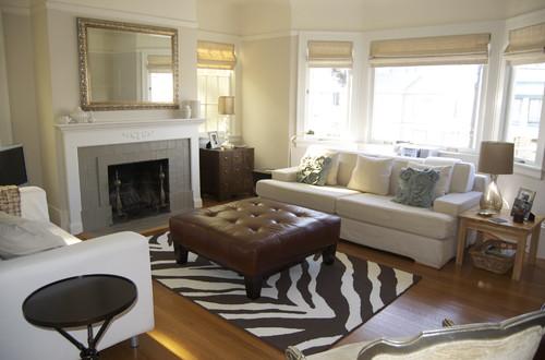 The secret behind successful rug placement part 2 - Secret keys contemporary living room design ...