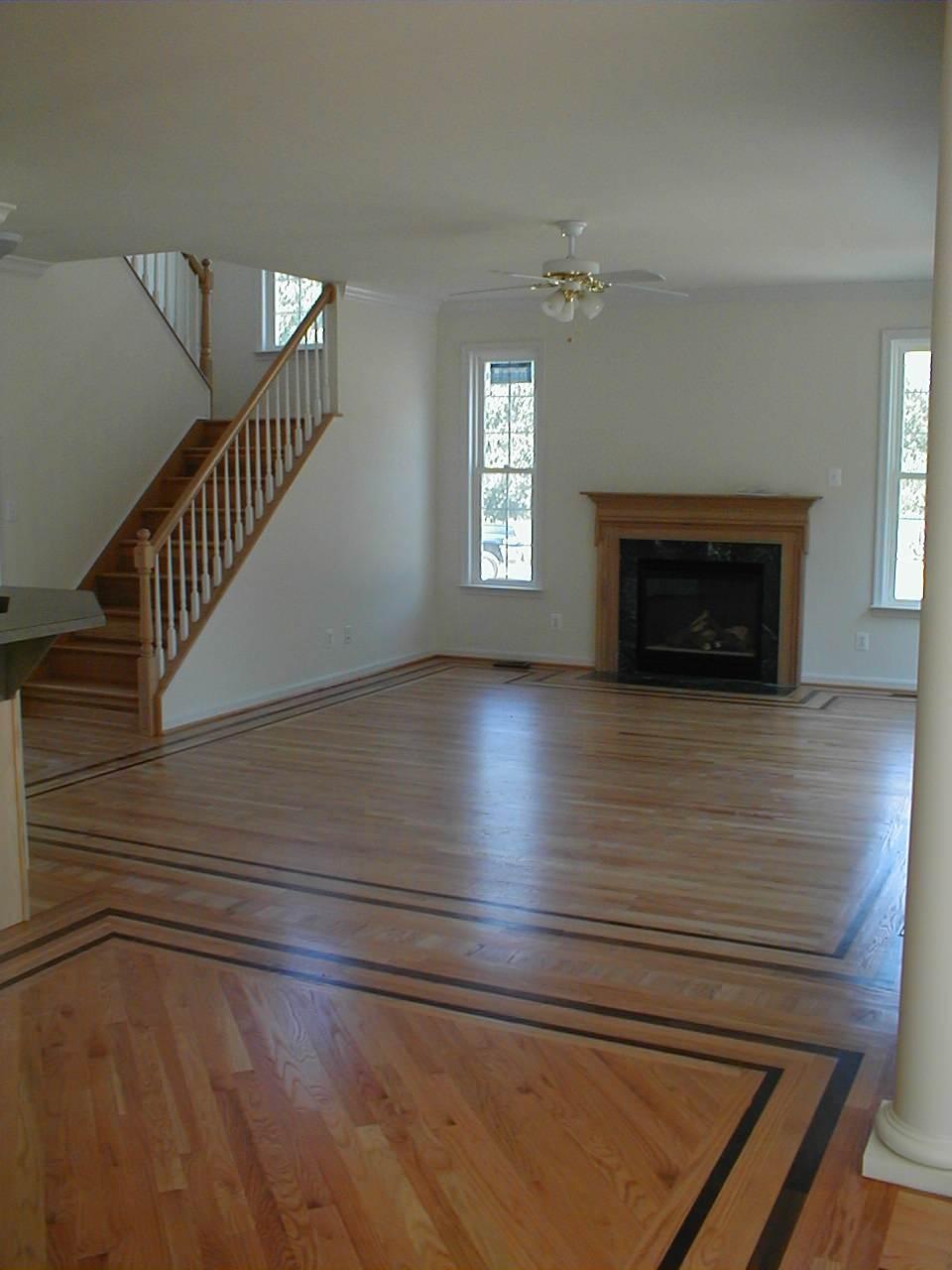 Framed flooring in Living Room
