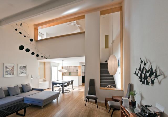 Framed Openings at Modern Bamboo Loft - Modern - Living Room - San ...
