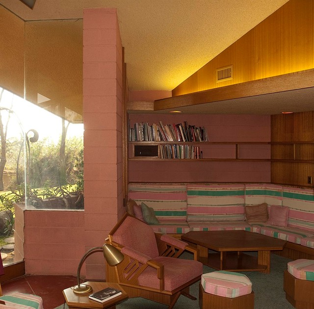 Frank Lloyd Wright Ablin House Bakersfield California Modern Living Room Los Angeles