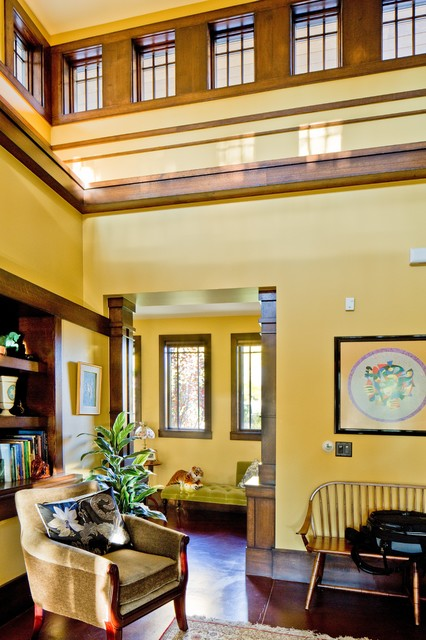 Frank Lloyd Wright Inspired House Craftsman Living