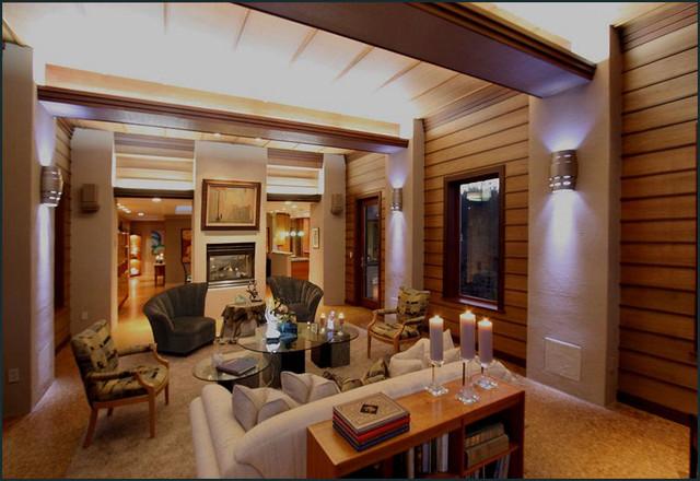 Frank Lloyd Wright Inspired Living Room Modern Living