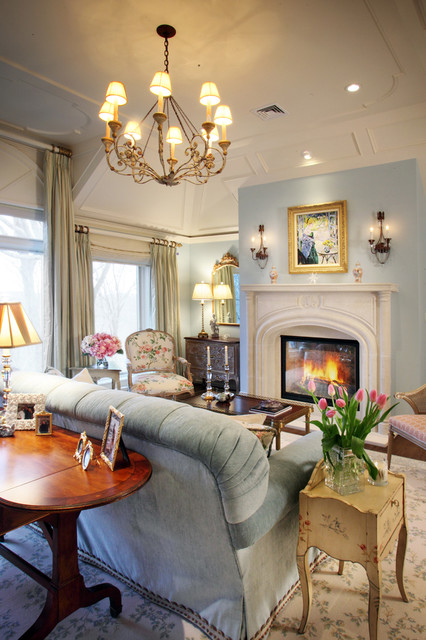 Franklin Lakes French Manor Eclectic Living Room New