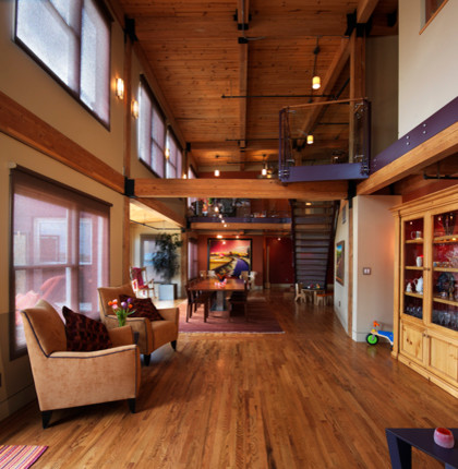 Living Room Denver Fascinating Franklin Loft  Denver Contemporary Remodel  Contemporary . Design Decoration