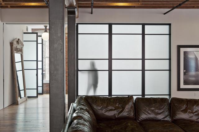 Jane Kim Design industrial-living-room