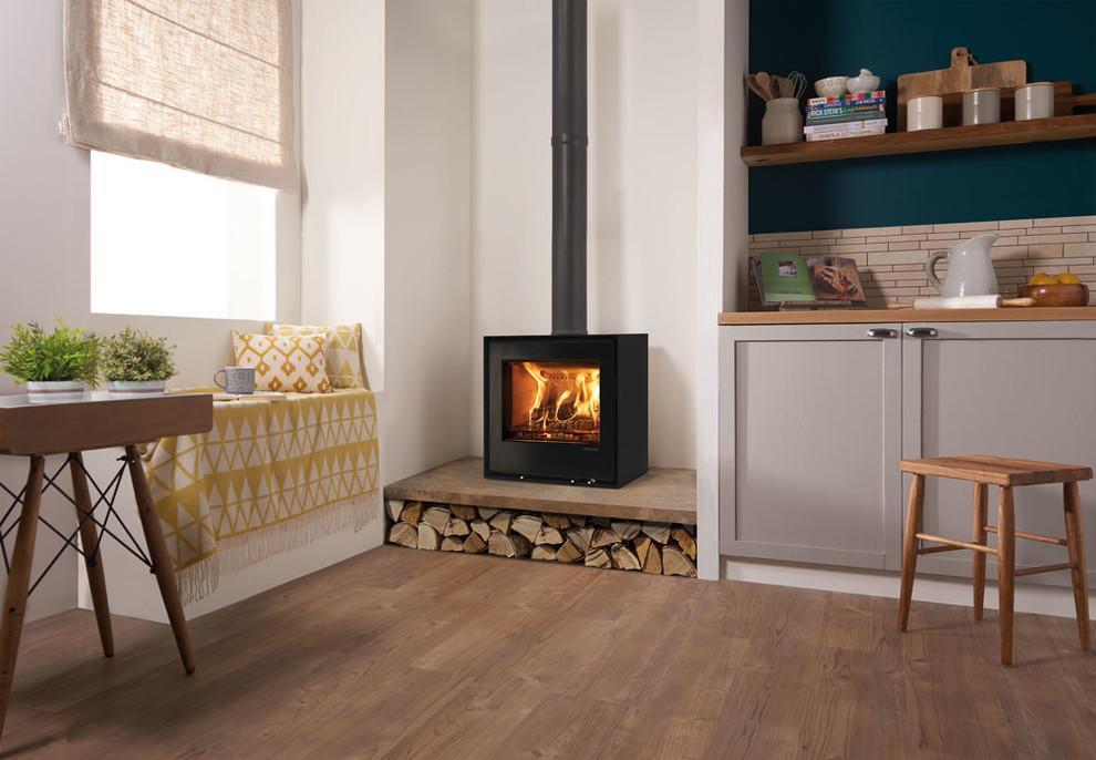 Freestanding Elise 540 Wood Burning Stove Modern Living Room Devon By Stovax Gazco Houzz