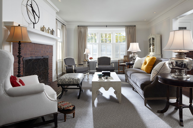 Fremont georgian residence traditional living room for Georgian living room ideas