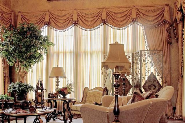 Foto på ett stort vintage allrum med öppen planlösning