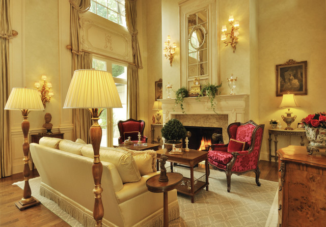 french chateau - traditional - living room - miami -kenneth