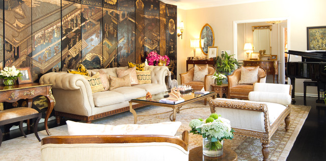 French colonial living room traditional living room los angeles by ch - Salon colonial design ...