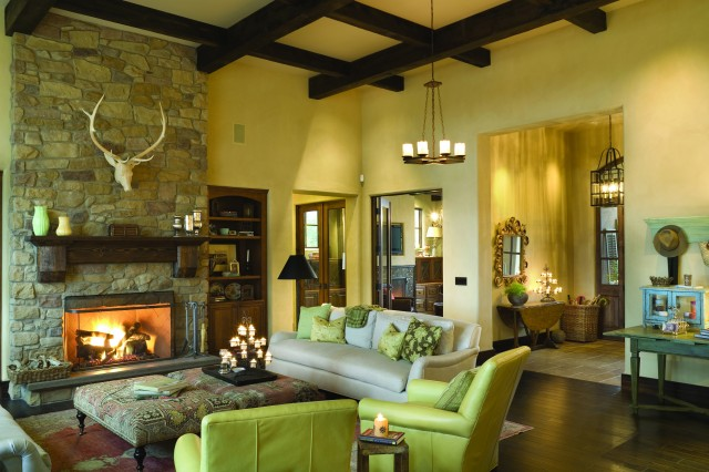 French Country Elegance - Traditional - Living Room - portland - by Alan Mascord Design ...