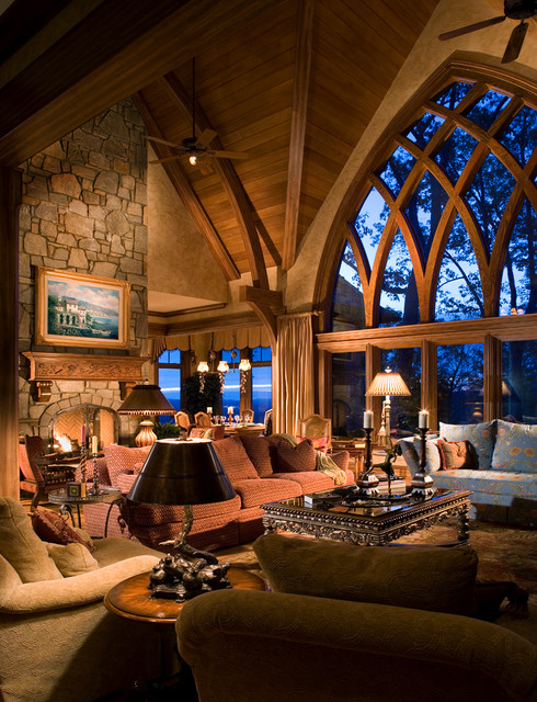 French Country Gothic Mountain modern-living-room