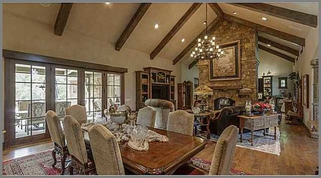 French Country Great Room Traditional Living Room Oklahoma City on Rustic Log Home Kitchen Design Ideas
