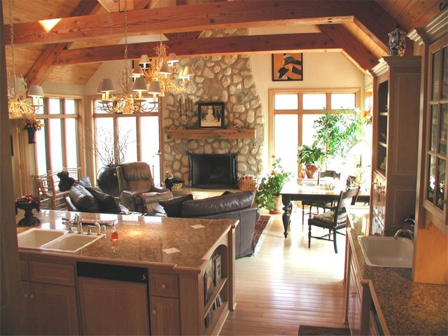 French Country House traditional-living-room