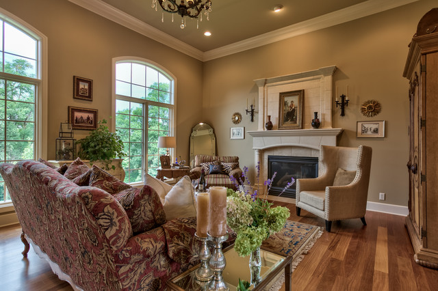 French Country Legacy - Traditional - Living Room - Omaha ...