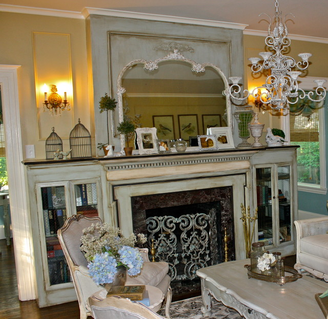 French country living room makeover eclectic living for French country family room