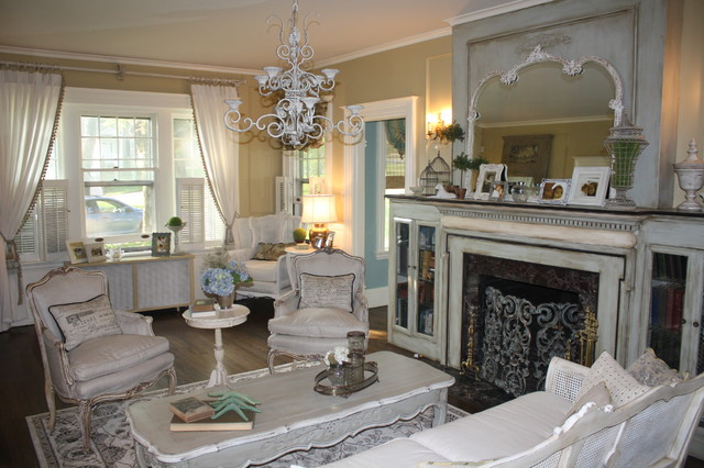 French Country Living Room Makeover - Eclectic - Living Room - Atlanta