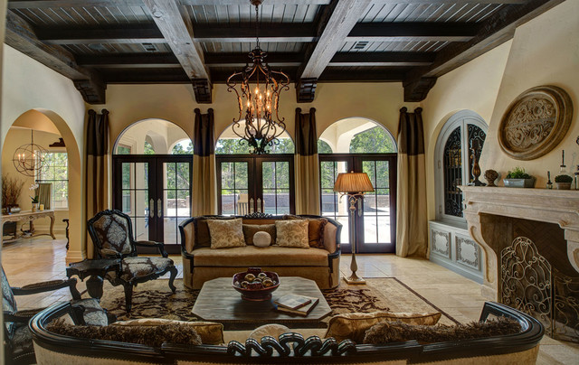 French country manor mediterranean living room other for Interior designs living room country