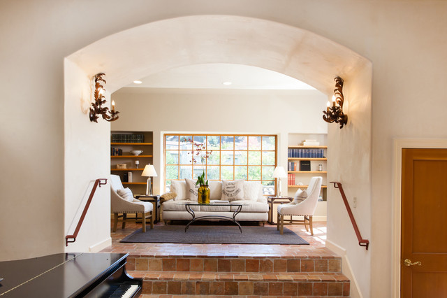 French Country / Mediterranean Style home in Oakland, CA mediterranean-living-room