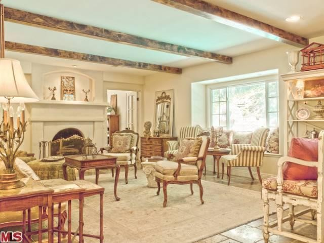 French Country Renovation, Living Room, Woodland Hills, CA traditional-living-room