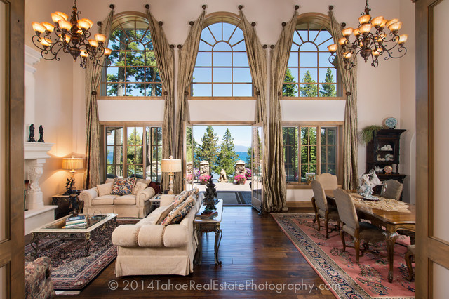 French Country Style Lakefront Mansion Tahoe City Ca
