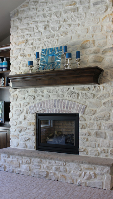French country texas cream living room boise by the for French country fireplace