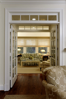 French doors and glass transom