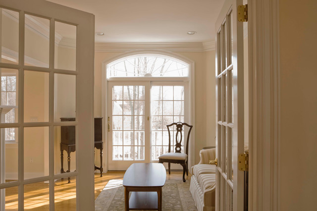 French doors modern living room sacramento by for Living room 4 doors