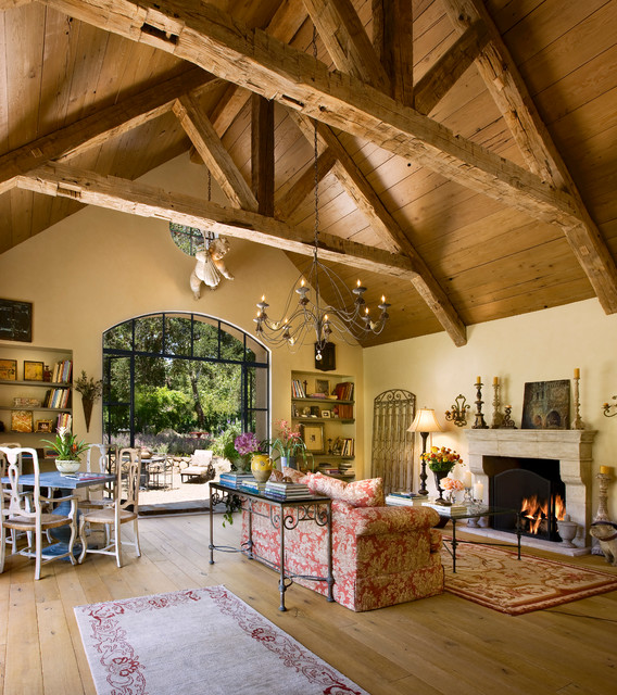 Mediterranean Style Living Room: French Farmhouse