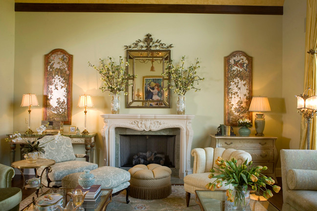 French Inspired Living Room Traditional Living Room Cleveland By Reflections Interior Design