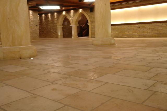 French Limestone living-room