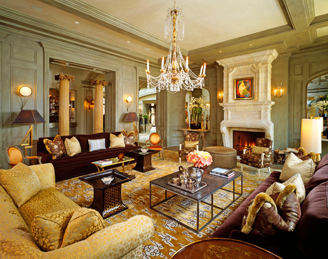 Exceptional French Normandy Beverly Hills Traditional Living Room Part 9