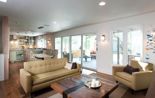 French Place Residence contemporary-living-room