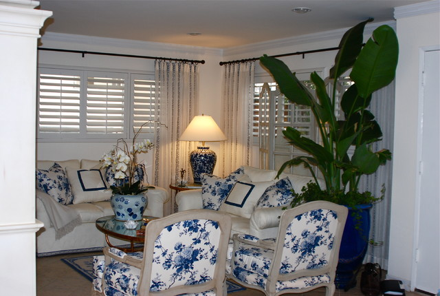 French Provencal Blue and white   Living Room   Los Angeles   by   French Provencal Blue and white living room. Blue And White Living Rooms. Home Design Ideas