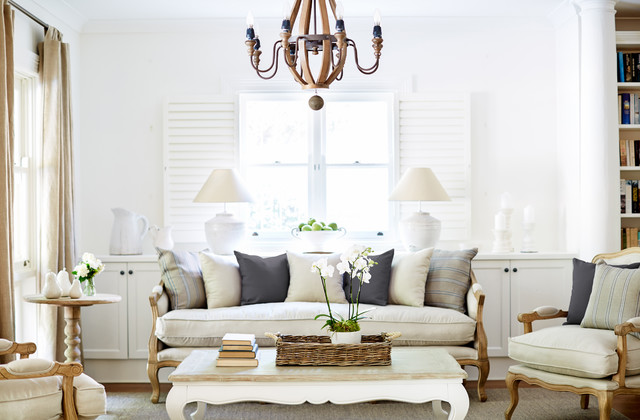 French Provincial Living Room Furniture Style Cream I ...