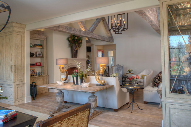 French Reclaimed Treasure transitional-living-room
