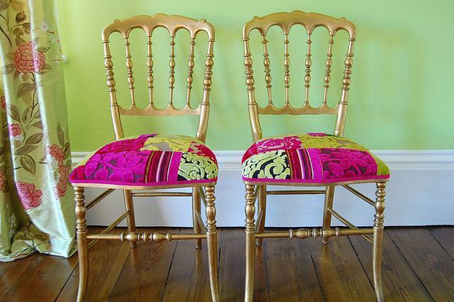 French salon chairs living-room