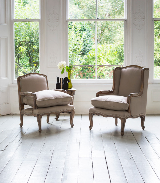 french style armchairs traditional living room