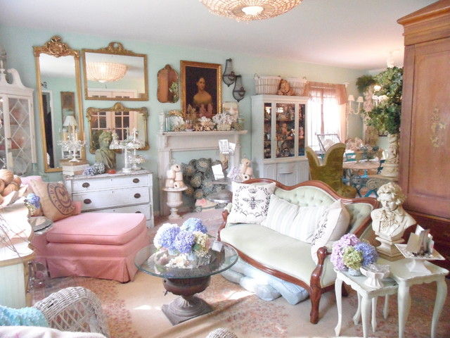 Frenchy & Bright Living Room - Shabby-chic Style - Living Room ...